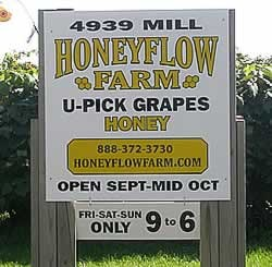 Vineyard & Honey Farm Opens August 31, 2018